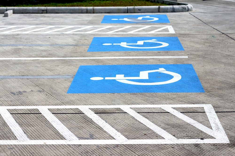 Row of Accessible Parking