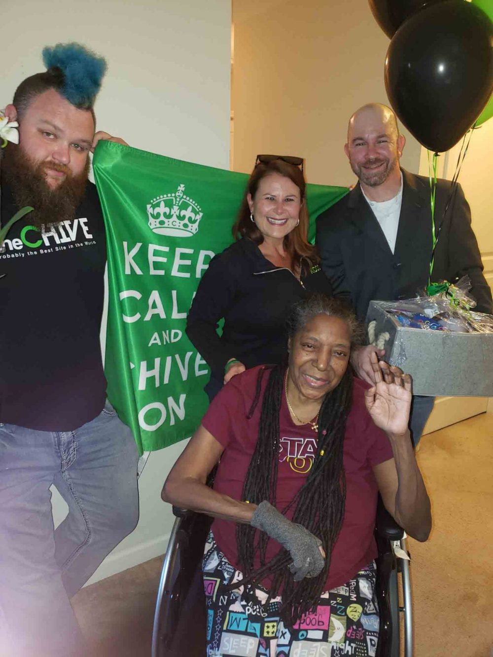 Another Chive Charities Gift Basket is Delivered