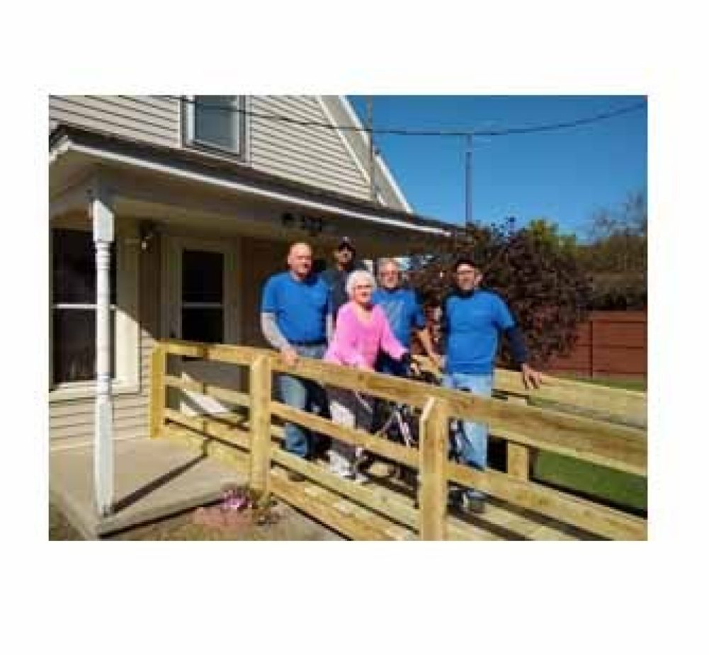 SAWs and BraunAbility Build a wheelchair ramp for house for  someone in need
