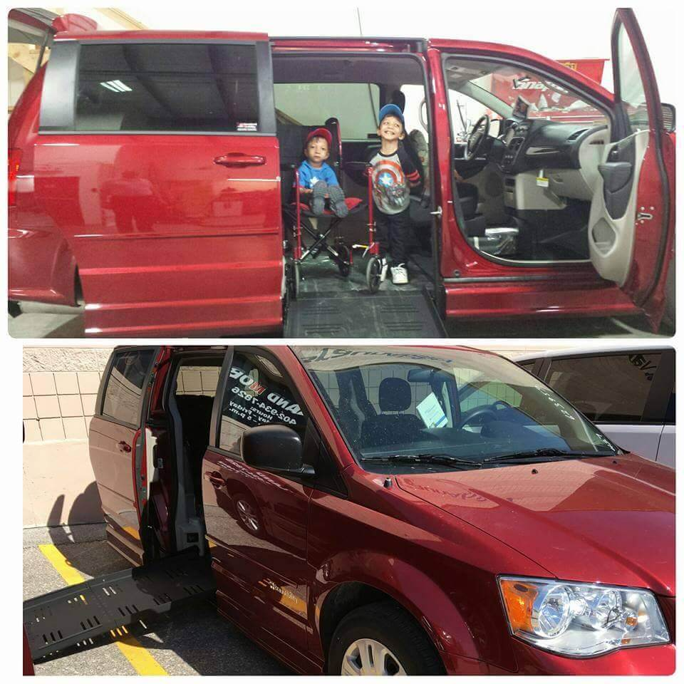 Neena Nizar's sons in their new BraunAbility van