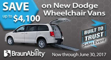 rear-entry wheelchair accessible van Dodge platform for BraunAbility