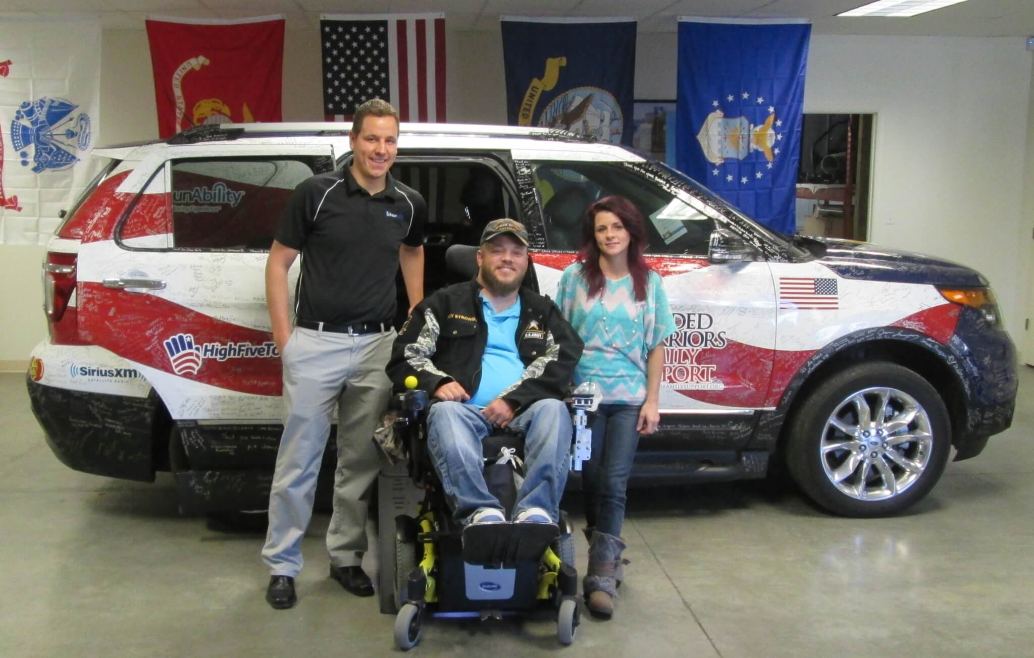 BraunAbility MXV donation wounded warrior donation mobility freedom