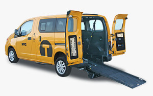BraunAbility NV200 wheelchair accessible taxi