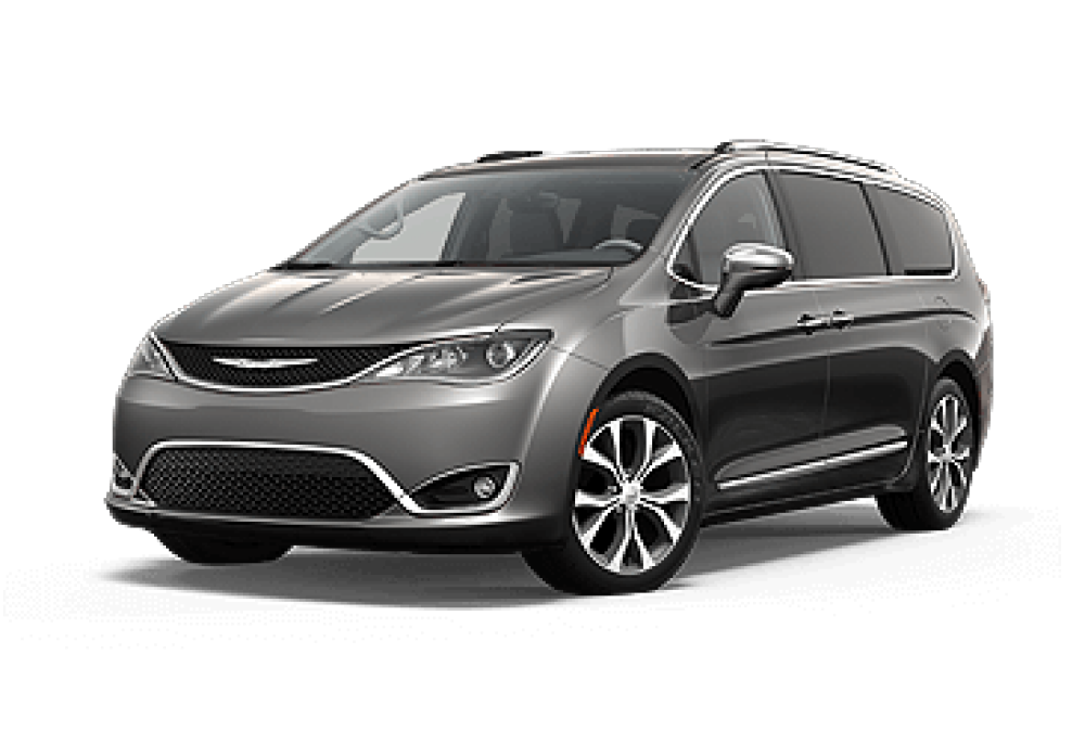 Chrysler Pacifica front view silver color|Chrysler Pacifica rear view red van color|The Chrysler Pacifica is ready for BraunAbility accessible components