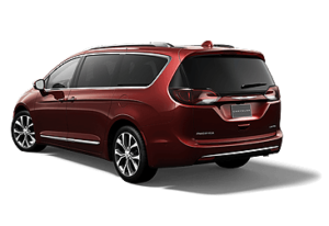 Chrysler Pacifica rear view red van color