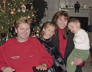 A young Sam Schmidt at Christmas with his family