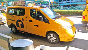 Full view of BraunAbility wheelchair accessible taxi