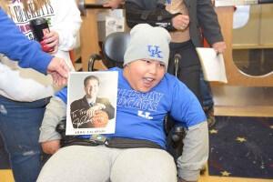 University of Kentucky fan wheelchair accessible van donation