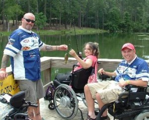 BraunAbility customer fishing and wheelchair vans