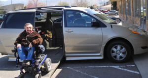 Curtiss defies their handicap BraunAbility Rampvan