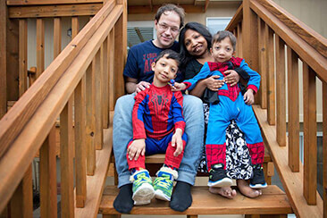 Two sons with rare disability (Jansen's Metaphyseal Chondrodysplasia) and their parents
