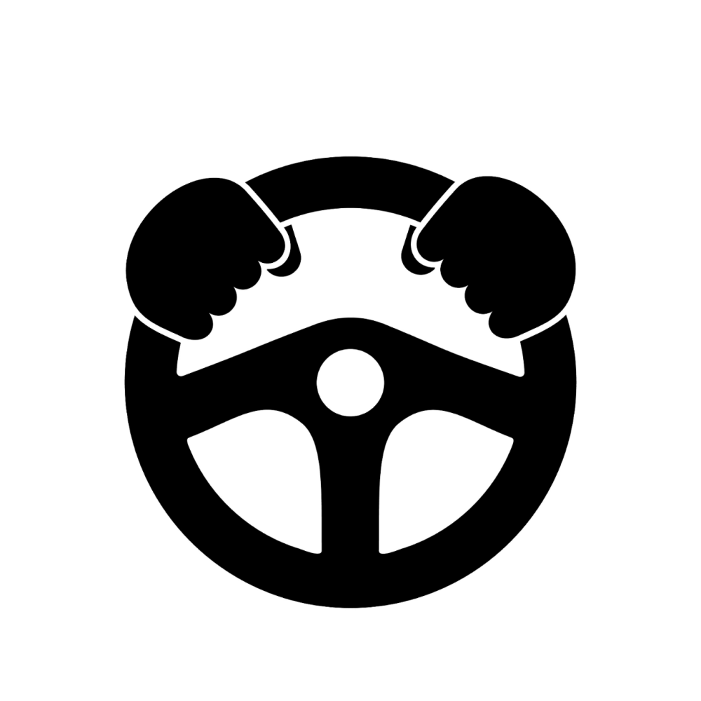 icon of hands on a steering wheel