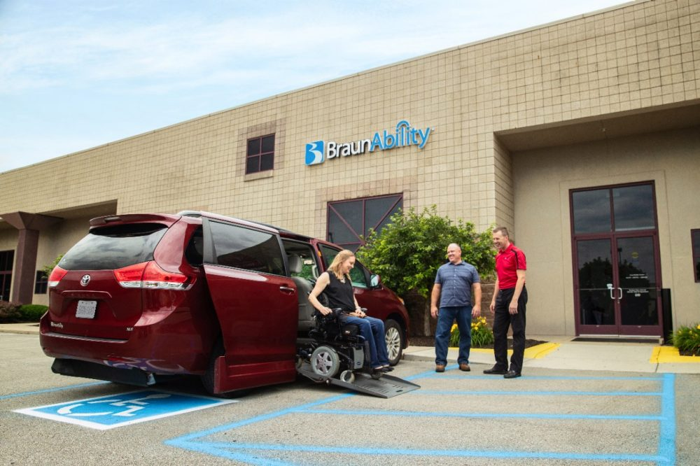handicap van at dealership