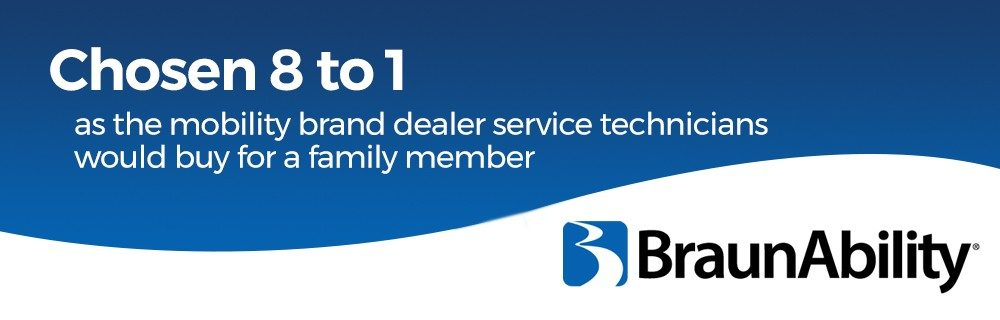 Chosen 8 to 1 as the mobility brand dealer service technicians would buy for a family member