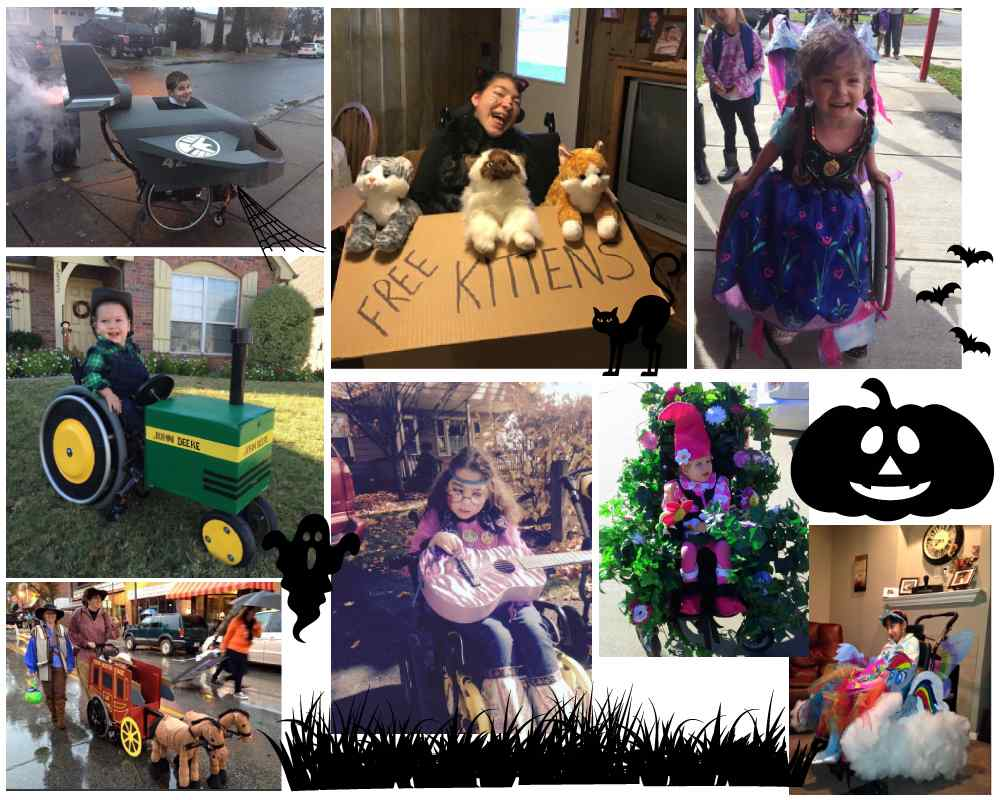 kids in wheelchairs dressed up for halloween