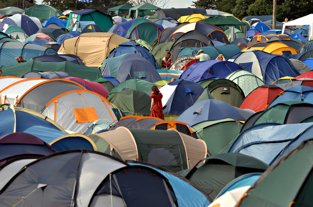 Tent Camping Music Festival