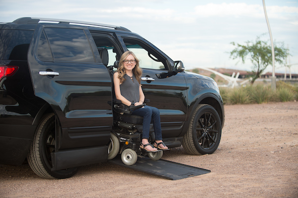 Kacey in her MXV