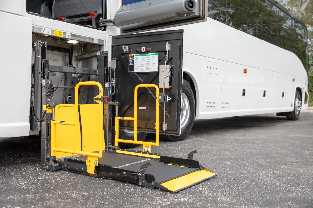 wheelchair lift Commercial applications for transit ramps and motor coaches