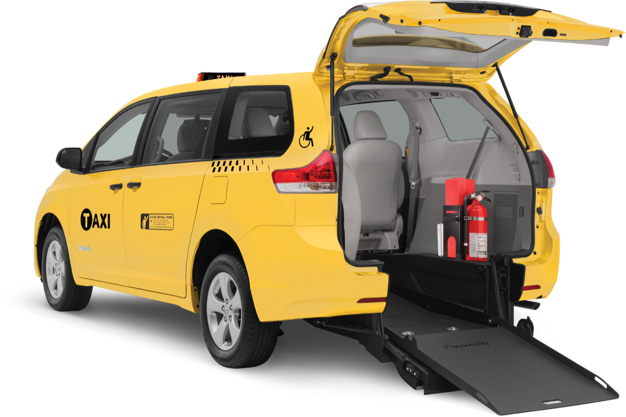 wheelchair accessible toyota taxi