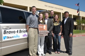 Colony High School representatives accept the inaugural Ralph W. Braun Spirit of Ability Award